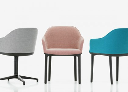 vitra Softshell Chair in Bezugsstoff Moss