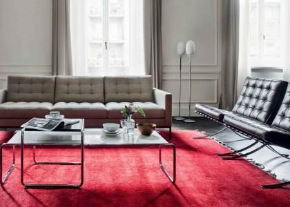 Naturleder für Florence Knoll Sofa & Barcelona Sessel