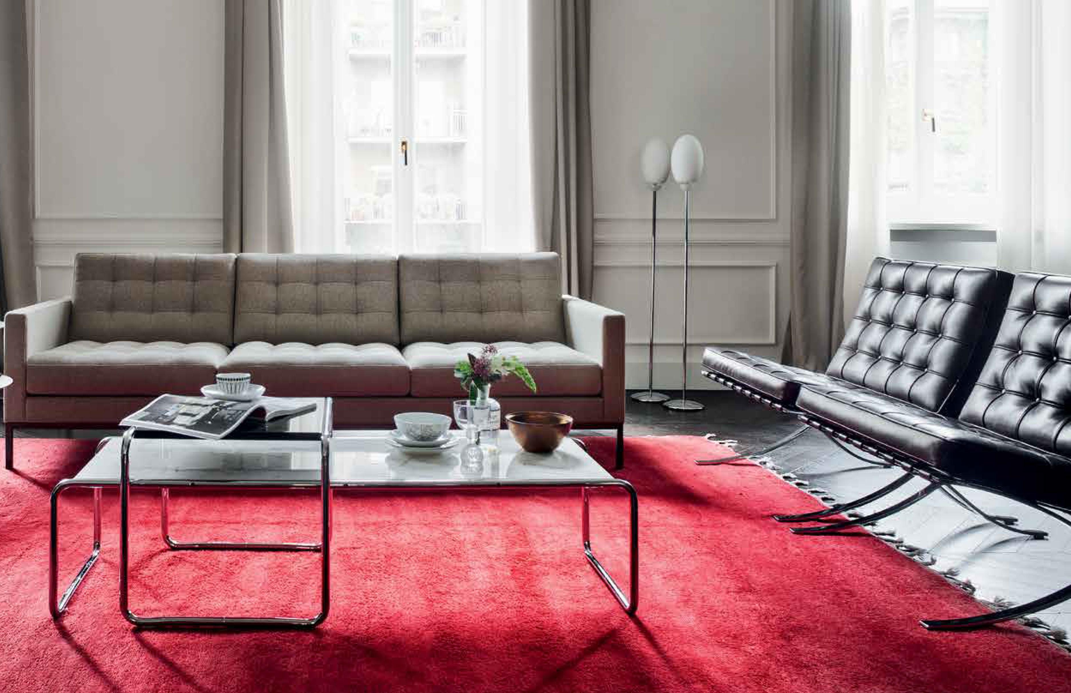 koton naturleder f r florence knoll sofa barcelona sessel. Black Bedroom Furniture Sets. Home Design Ideas