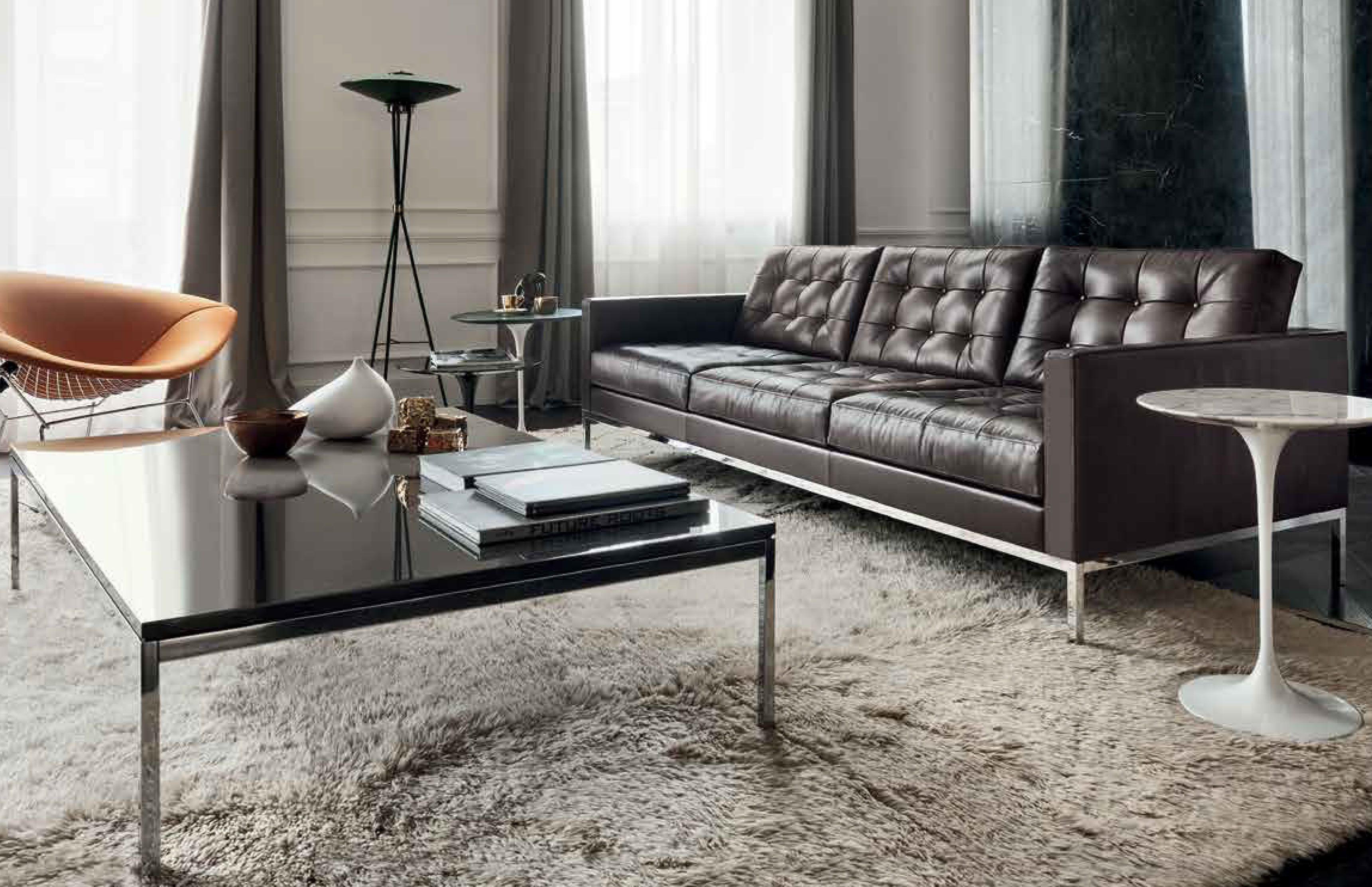koton naturleder f r florence knoll sofa barcelona sessel. Black Bedroom Furniture Sets. Home Design Ideas