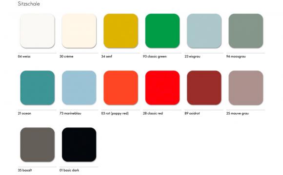 Neue Schalenfarben & neue Sitzhöhe für Eames Plastic Chairs