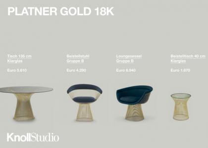 Jubiläums Edition: Bertoia & Platner in 18K Gold