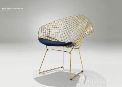Jubiläums Edition: Bertoia & Platner in 18K Gold